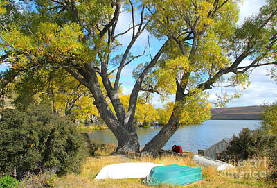Photograph - Turquoise Dinghy By The Lake by Nareeta Martin