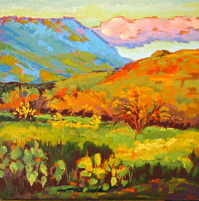 Painting - Turquoise Mountain Coral Hill by Sarah Gayle Carter