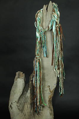 Turquoise Mountains - Art Scarf Original by Karen Rester