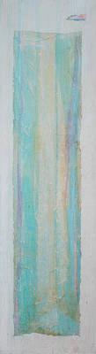Hari E. Thomas Abstract Painting - Turquoise Remembrance Door   Tribute To Hari E. Thomas by Asha Carolyn Young