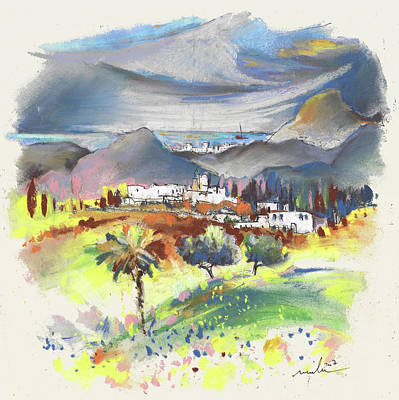 Impressionism Drawings - Turre in Spain 03 by Miki De Goodaboom