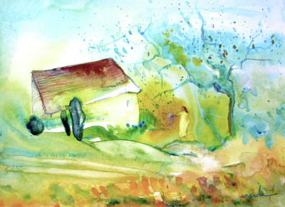 Impressionism Drawings - Turre in Spain 04 by Miki De Goodaboom