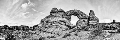 Blackandwhite Photograph - Turret Pano by Chad Dutson