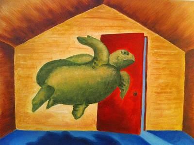 Turtle Entrapment Art Print