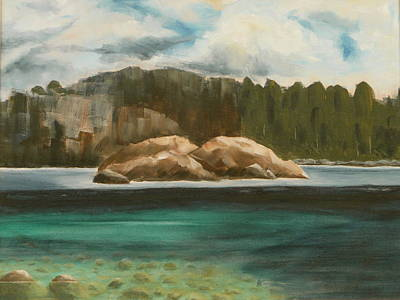 Painting - Turtle Island by Jo Appleby