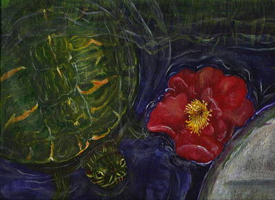 Slider Painting - Turtle Pond by Leslie Hoops-Wallace