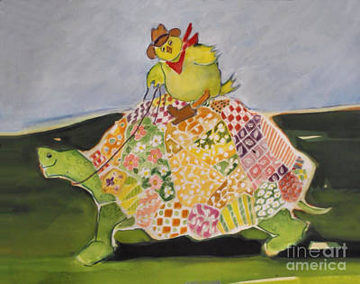 Painting - Turtle Ride by Diane Ursin