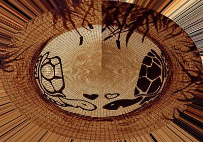 Abstract Seascape Digital Art - Turtles Love Digital Artwork by Georgeta  Blanaru
