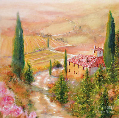 Print featuring the painting Tuscan Dream by Michael Rock
