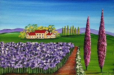 Tuscan Hills Painting - Tuscan Farm 4486 by Jessie Meier