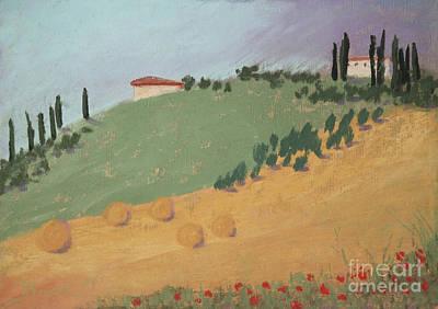 Pastel - Tuscan Farm by Janet Biondi