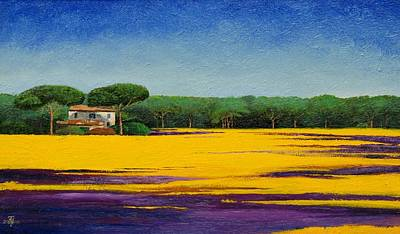 Italian Landscape Painting - Tuscan Landcape by Trevor Neal