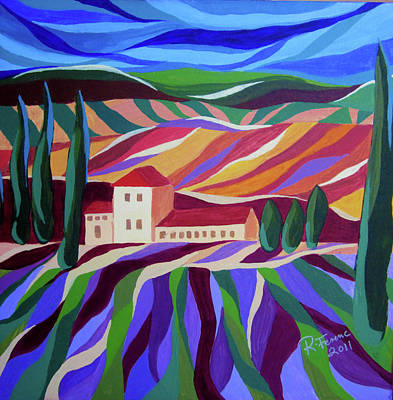Tuscan Hills Painting - Tuscan Landscape by Renata Ferenc