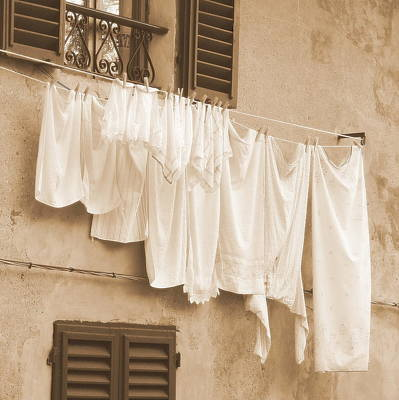 Photograph - Tuscan Laundry by Ramona Johnston