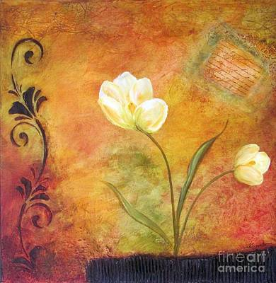 Tuscany Art Mixed Media - Tuscan Love I by Madeline Schneider