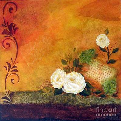 Tuscany Art Mixed Media - Tuscan Love II by Madeline Schneider