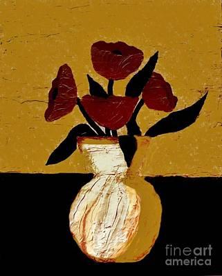 Tuscan Poppies Art Print by Marsha Heiken