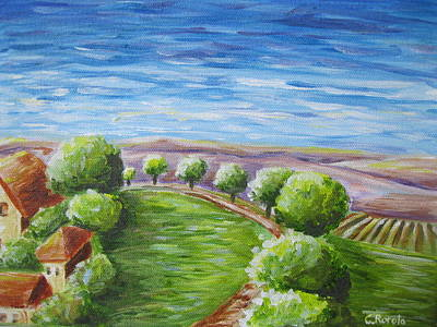 Tuscan Hills Painting - Tuscan Road by Christine Rotolo