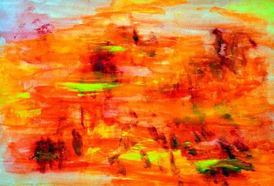 Tuscan Sunset Painting - Tuscan Sun..... by Tanya Tanski