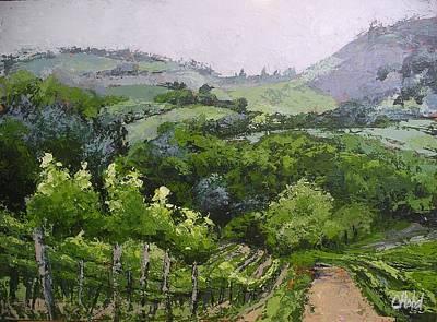 Painting - Tuscan Vinyard Painting by Chris Hobel
