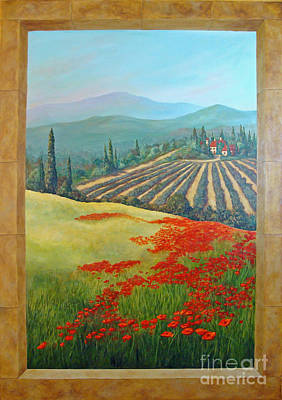 Tuscan Hills Painting - Tuscan Vista by Phyllis Howard