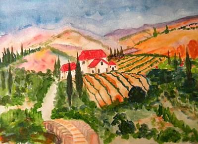 Pictori Romani Contemporani Painting - Tuscany by Carmen Kolcsar
