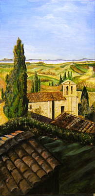 Tuscany Ll Art Print by Maureen Pisano