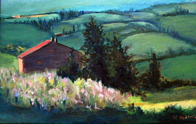 Painting - Tuscany by Rosemarie Hakim
