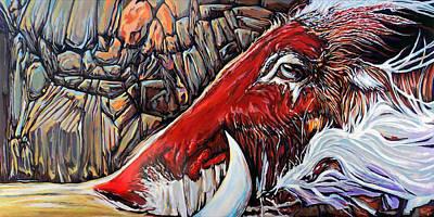 Arkansas Painting - Tusk by Rus Huffstutler