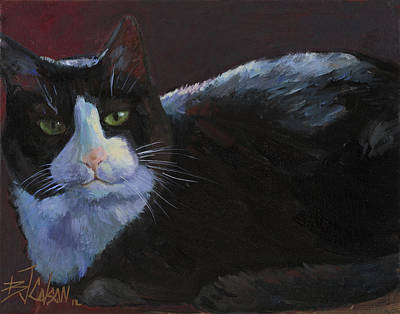 Painting - Tuxedo Cat by Billie Colson