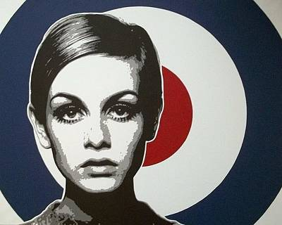 Twiggy Pop Art Painting - Twiggy by Dan Carman