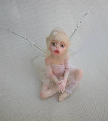 Fae Art Mixed Media - Twiggy Mae Fairy by Deborah Gouldthorpe