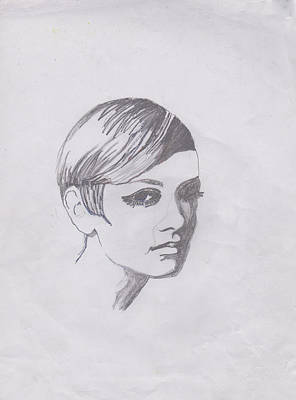 Twiggy Photograph - Twiggy by Marie Hough