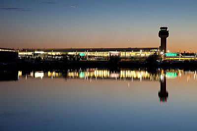 Twilight At Anchorage International Airport Art Print