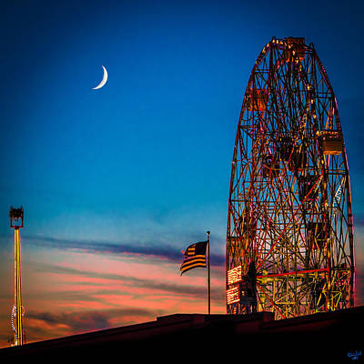Twilight At Coney Island Art Print