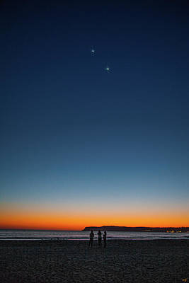 Photograph - Twilight At Coronado Beach by Chris Lord