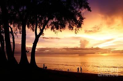Twilight At Maikao Beach Phuket  Art Print by Anusorn Phuengprasert nachol