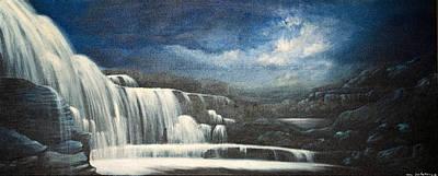 Painting - Twilight Falls by Jan Farthing