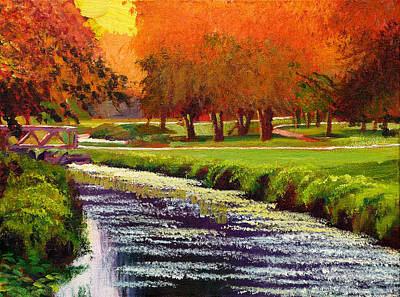 Golf Course Painting - Twilight Golf II by David Lloyd Glover