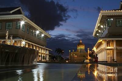 Art Print featuring the pyrography Twilight In Brunei  by Gary Bridger