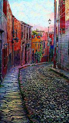 Twilight In San Miguel De Allende Art Print by John  Kolenberg