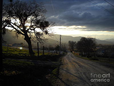 Wall Art - Photograph - Twilight On A Country Road by Max Dickinson