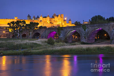 Twilight Over Carcassonne Art Print by Brian Jannsen