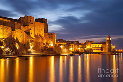 Collioure Photograph - Twilight Over Collioure by Brian Jannsen