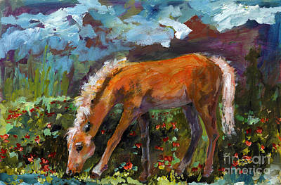Painting - Twilight Pony In Protest Of H.r. 2112 Painting by Ginette Callaway