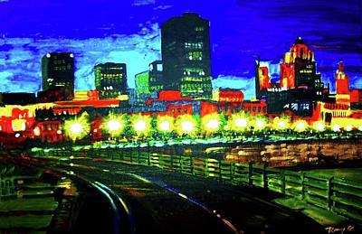Metro Art Mixed Media - Twilight by Rom Galicia