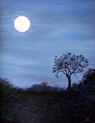 Painting - Twilight Tree by Flo Markowitz