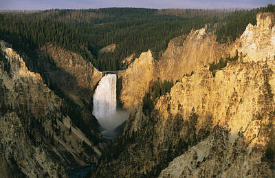 Twilight View Of Lower Yellowstone Art Print by Michael S. Lewis