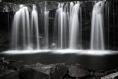 Word Signs - Twilight Wilderness Waterfall Plunges by John Stephens