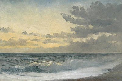 Blue Water Painting - Twilight by William Pye